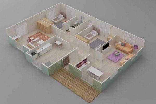 Prefabrik Ev 122 m2