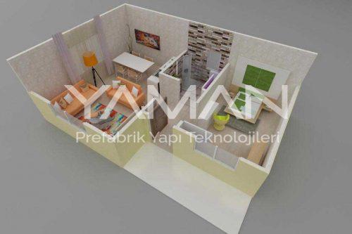 Prefabrik Ev 40 m2