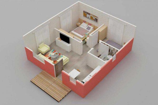 Prefabrik Ev 45 m2