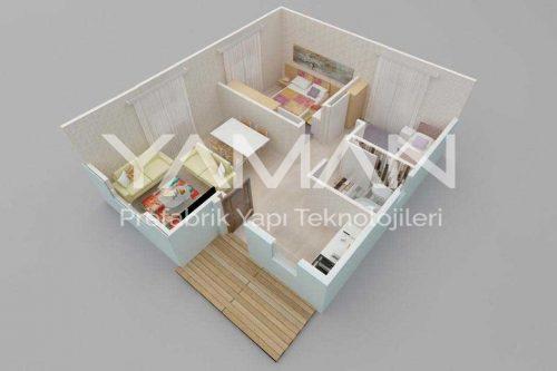 Prefabrik Ev 53 m2