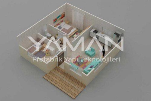 Prefabrik Ev 62 m2