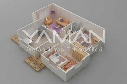 Prefabrik Ev 72 m2