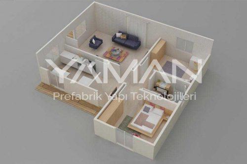 Prefabrik Ev 81 m2