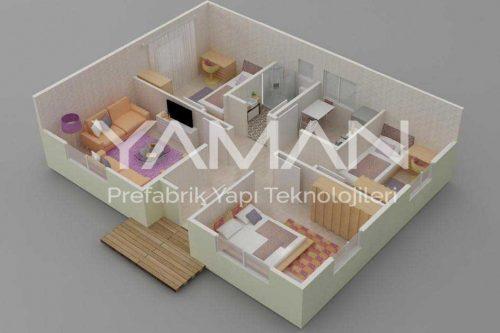 Prefabrik Ev 82 m2
