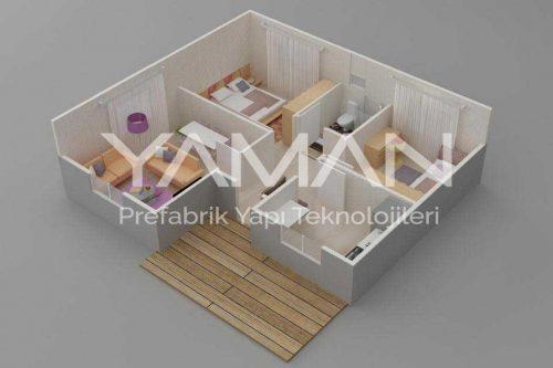 Prefabrik Ev 84 m2