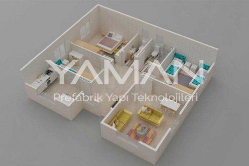 Prefabrik Ev 96 m2