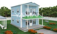 122 m2 Dubleks Prefabrik Ev