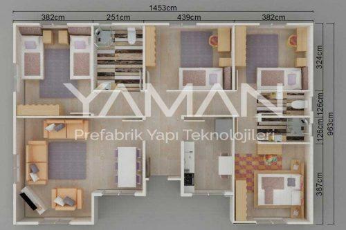 129 Metrekare Prefabrik Ev