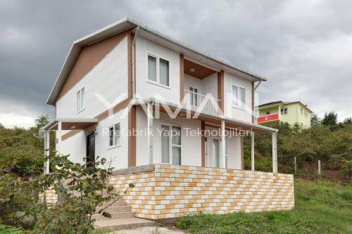 131 m2 Çift Katlı Prefabrik Ev