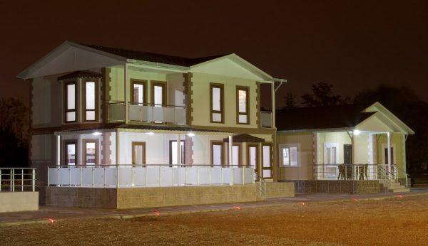 155 m2 Çift Katlı Prefabrik Ev