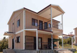158 m2 Çift Katlı Prefabrik Ev