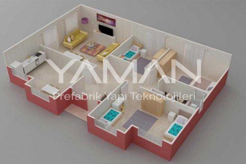 Prefabrik Ev 112 m2
