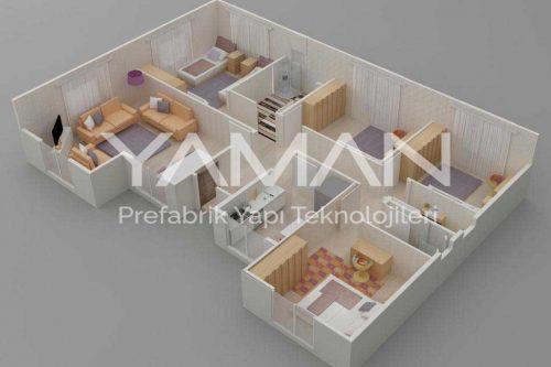 Prefabrik Ev 129 m2